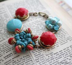 Vintage Component Cluster Bracelets from Bel Monili, $35 each
