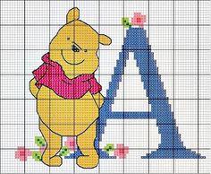 Pooh Cross Stitch Alphabet ...