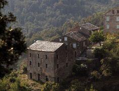 Village de Castagniccia Corsica, Tuscany, Cabin, Culture, Vacation, House Styles, Landscapes, Italy, Earth