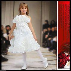 abito vestito cerimonia bambina comunione damigella sera Bianco 9 10 11 12 anni