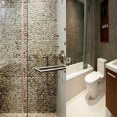 Bathrooms & Showers - Pebble Tile Shop Grey Bathroom Tiles, Bathroom Tile Designs, Bathroom Pictures, Diy Bathroom Decor, Grey Bathrooms, Bathroom Flooring, Bathroom Ideas, Shower Bathroom, Small Bathroom