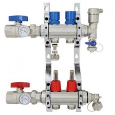 2-branch Brass Manifold Set for Radiant Heating