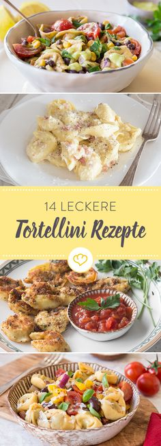 Pasta Recipes Tortellini are well-known and popular because they can be used in different ways. Easy Cooking, Cooking Recipes, Healthy Recipes, Delicious Recipes, Warm Food, Burger Recipes, How To Cook Pasta, Food Inspiration, Pasta Recipes