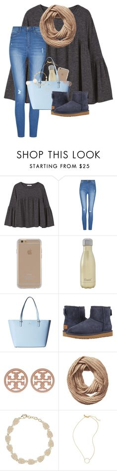 """""""Thankful • Grateful • Blessed"""" by erinlmarkel ❤ liked on Polyvore featuring MANGO, Agent 18, S'well, Kate Spade, UGG, Tory Burch, Vincent Pradier, Kendra Scott and Madewell"""