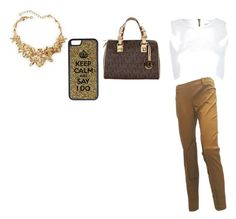 """""""Untitled #32"""" by ravenrobinson4 ❤ liked on Polyvore featuring MICHAEL Michael Kors, Oscar de la Renta, CellPowerCases, River Island, Balenciaga, women's clothing, women, female, woman and misses"""