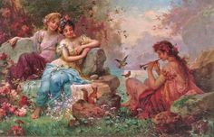 Hans Zatzka Charming The Animals print for sale. Shop for Hans Zatzka Charming The Animals painting and frame at discount price, ships in 24 hours. Classic Paintings, Beautiful Paintings, Old Paintings, Pictures To Paint, Art Pictures, Painting Pictures, The Animals, Renaissance Kunst, Victorian Paintings