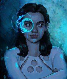 Cyber Girl by Stolze Art  / http://stolzeart.tumblr.com/post/148925484704/cyber-girl