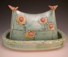 butter dish  - Jennifer Mecca - I absolutely adore her work! Purchased pieces at The other Half in downtown Winston-Salem, NC!!!!