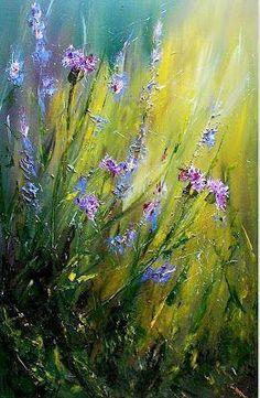 pintura-moderna-al-oleo-flores:                                                                                                                                                     Más