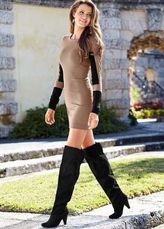 Color block sweater dress from VENUS women's swimwear and sexy clothing. Order Color block sweater dress for women from the online catalog or Sweater Dress Boots, Sweater Dresses, Fashion Forms, Fashion Site, Fashion Bags, Fashion Ideas, Color Block Sweater, Sweater Fashion, Types Of Fashion Styles