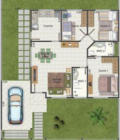Plano de casa muy linda con 3 dormitorios y 95 m2-2