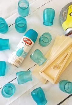 Krylon Sea Glass Aqua spray paint from Walmart - LOVE it!