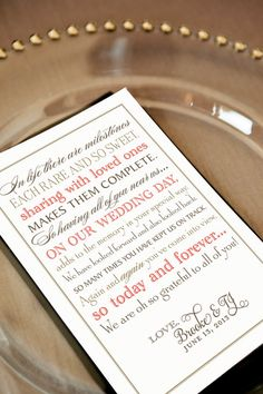 Printable Wedding Thank You Note for Guests In by pompdesigns