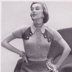 Colour blocking done in fabulous style. Fifties Fashion, Retro Fashion, Vintage Fashion, Vintage Dresses, Vintage Outfits, Vintage Clothing, 20th Century Fashion, Vintage Closet, Vogue