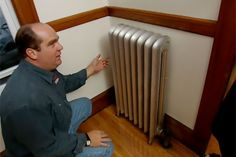 This Old House plumbing and heating expert Richard Trethewey silences a leaky, squeaky steam radiator Steam Radiators, Home Radiators, Radiator Leak, Radiator Cover, Home Helpers, Heating Furnace, Home Fix, Home Ownership, Plumbing Fixtures