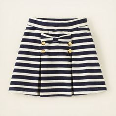 $16.95 pleated striped bow skirt #childrensplace