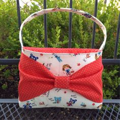 Toddler purse / little girl purse / Bow bag / by babymamasewshop