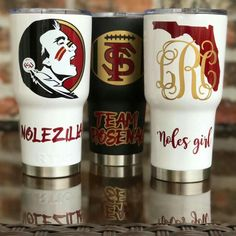 Florida State FSU Noles Seminoles Football Tumbler by VinylGifts Valentines Gifts For Boyfriend, Boyfriend Gifts, Valentine Day Gifts, Custom Yeti, Valentine Day Cupcakes, Diy Tumblr, Yeti Cup, Beer Opener, Personalized Cups