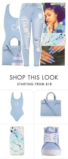 """baby blue"" by savagebxtch24 ❤ liked on Polyvore featuring Calvin Klein, Kurt Geiger and Vans"