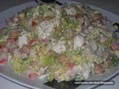 Pripravte si jednoduché a svieže šaláty na každý deň. Počas horúcich dní, sa málo ktorým gazdinkám chce dlho stáť za sporákom a vyvárať. Každá hľadá čo najrýchlejší spôsob, ako pripraviť jedlo... Czech Recipes, Ethnic Recipes, Vegetable Recipes, Finger Foods, Guacamole, Food Inspiration, Ham, Potato Salad, Buffet