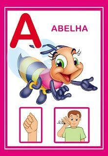 Alfabeto em libras colorido! - Alfabetos Lindos