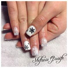 Light Blue! White! Snowflakes! Gel Nails! Nail Innovationz!