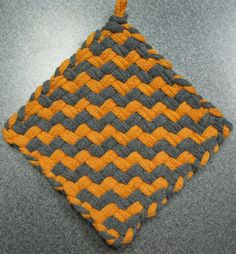 Fire and Smoke Woven Potholder by DoorsiDell on Etsy
