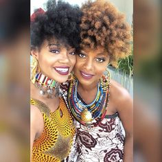 Ankara Everything 🌞😘 www.2FroChicks.com YouTube.com/2FroChicks #2FroChicks #NaturalHair..This is such a warm, beautiful and colorful picture. ♡Nneka