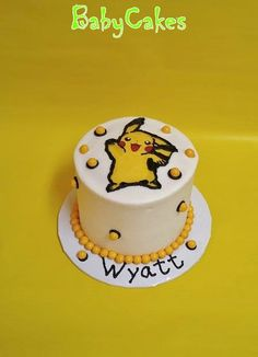 Pikachu personal birthday cake.