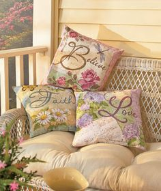 """Brighten your surroundings with the colorful artwork on this 16"""" Indoor/Outdoor Pillow. Add an uplifting and warm message to a chair, patio bench, couch and more. Mix and match the designs to complete your decor. Polyester"""