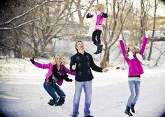 Family Photos - winter - jump