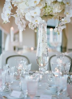 Featured Photographer: Elizabeth Messina Photography; Wedding reception centerpiece idea.