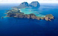 Quase intocada, a ilha de Lord Howe, na Austrália, é o destino máximo do ecoturismo. Apenas 400 pessoas podem visitar seus 11 km de comprimento por vez .