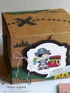 "A surprise box with ""Hey, valentine"" stamps set ! - Hélène LEGRAND - Stamp 2 LiNotte"