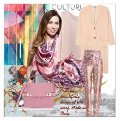 """""""Beautifully designed silk scarf."""" by suncokret-12 ❤ liked on Polyvore featuring Chicwish, Zimmermann, Henri Bendel and modern"""