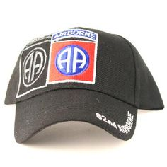 US Army 82nd Airborne new black ballcap w/tags w/free shipping