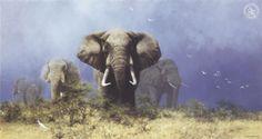 Storm Over Africa (silkscreen) copyright David Shepherd