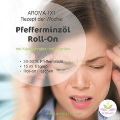 STUDIEN haben gezeigt, dass PFEFFERMINZÖL hochwirksam bei SPANNUNGSKOPFSCHMERZEN ist. So wurde in einer Studie belegt, dass eine 10%ige Lösung vergleichbare oder schnellere Wirkung bei Kopfschmerzen zeigte, als 1000 mg Paracetamol! Wenn das nicht cool ist! :-) Für mehr Tipps und Rezepte mit Pfefferminzöl schau rein auf meinem Blog bei aroma1x1.com Young Living, Aromatherapy, Healthy Living, Essential Oils, Health Fitness, Beauty, Blog, Wellness, Recipes