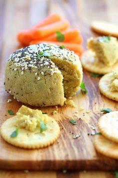 Everything bagel Seasoning Vegan Cheese Ball. No soaking, blending, straining needed! 10 minute vegan cheese ball. Gluten-free. Can be soy-free #vegan #cheese #veganricha | VeganRicha.com