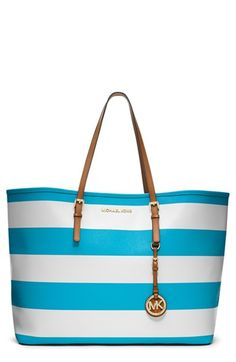 MICHAEL Michael Kors 'Medium Jet Set' Saffiano Leather Travel Tote available at #Nordstrom $238.40