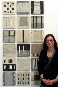 "Clare Crouchman with ceramic ""Diversity Series"""