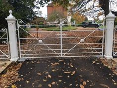 Fencing in Kent and East Sussex, Richards Fencing- Fencing, gates and Estate maintenance in Kent and Sussex. Wrought Iron Driveway Gates, Gates And Railings, Fence Gates, Iron Gates, Garden Gates, Fencing, Farm Entrance, Entrance Gates, Gate Post