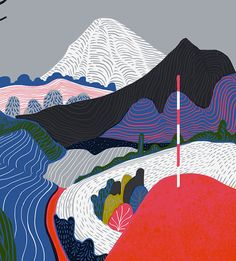 Winters Lookout by Sam Chivers, via Behance