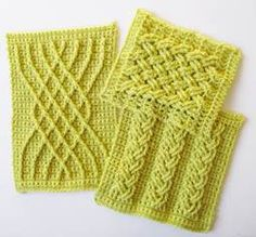 Tunisian Crochet We have to know how to make these crochet cables. If you feel that way too, has you covered. This is a can't miss Workshop for anyone wanting to advance their crochet skills in the new year! Crochet Afghans, Tunisian Crochet, Crochet Squares, Crochet Motif, Knit Crochet, Crochet Cable Stitch, Crotchet Stitches, Crochet Stitches Patterns, Stitch Patterns