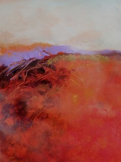 Orange Field, large, abstract landscape by Carol Engles    ...BTW,Please Check this out:  http://artcaffeine.imobileappsys.com