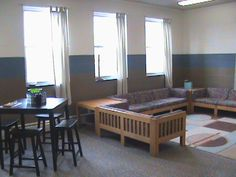 great youth group room - wonder if the chapel would let a room designated as a youth room for the Prot & Catholic teens?