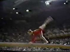 Olga Korbut 1976 Olympics Balance Beam Event Finals