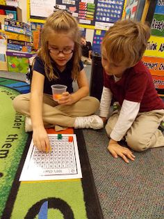 In this game, students partner up. All groups need 6 unifix cubes and one hundreds chart. Then one student closes their eyes while the other student covers 6 numbers. Then the student whose eyes were closed must correctly tell their friend what numbers they covered.