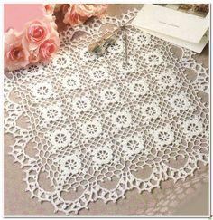 Crochet: square doily