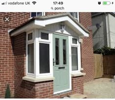 Enthusiastic contributed entrance porch design Going Here Porch Uk, House Front Porch, Small Front Porches, Front Porch Design, Cottage Porch, Brick Porch, Porch Windows, Porch Doors, Porch Entrance